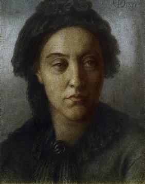 Christina Rossetti / Drawing by Rossetti