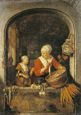 Cook by the Window /Paint.aft.Dou/ 1650