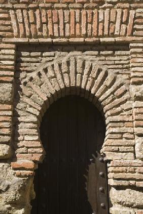 Detail of an arch in the Alcazaba, Malaga, Costa del Sol (photo)