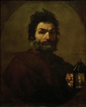 Diogenes with lamp / Ribera 1637