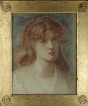 D.Rossetti, Head of a Girl.
