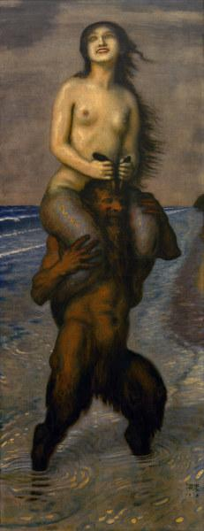 F.v.Stuck / Faun and Nymph / 1918