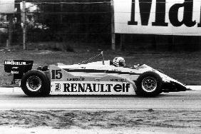 Grand Prix of Belgium: Alain Prost driving a Renault