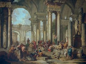G.P.Pannini, Paul preaches in Athens