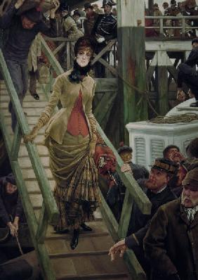 J.Tissot, Embarkation in Calais