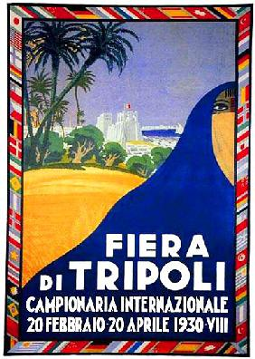 Libya / Italy: Advertising poster for the Fiera de Tripoli
