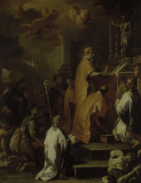 L.Giordano / Mass of St.Gregory / Paint.
