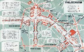 Map of the world fair, Paris