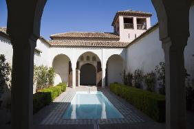 Patio de la Alberca in the Alcazaba, Malaga, Costa del Sol (photo)