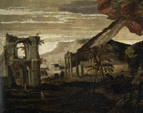 P.Veronese, Landscape with ruins