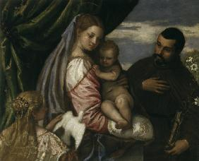 P.Veronese, Mary with Child a.M.Spaventi