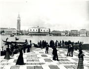 Panorama from the Molo of the Island of San Giorgio (b/w photo) 1880-1920