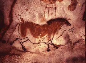 Rock painting of a horse