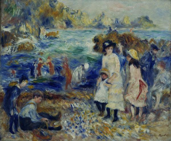 Renoir Enfants Au Bord De La Mer 1883 Pierre Auguste Renoir En Reproduction Imprimee Ou Copie Peinte A L Huile Sur Toile