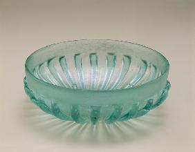 Ribbed moulded bowl, Roman, 1st century BC - 1st century AD