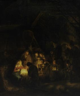 Rembrandt / Adoration of the shepherds