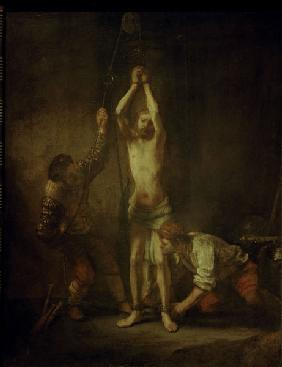 Rembrandt / Christ at the Column.