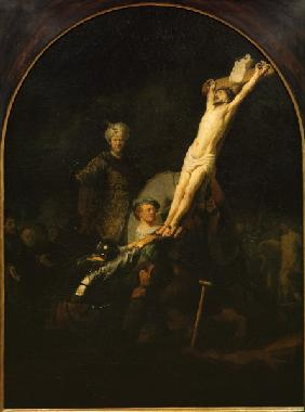 Rembrandt / Erection of the Cross.