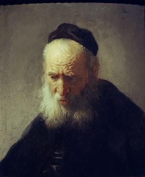 Rembrandt / Head of an old man
