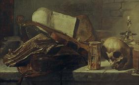 Rembrandt (circle of), still life, books