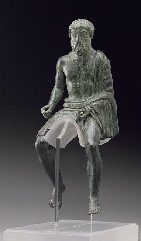 Statuette of a rider, Etruscan, late 5th century BC