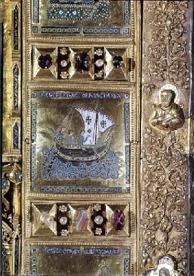 Settlement of the Body of St. Mark, enamel panel from the Pala d''Oro, San Marco Basilica, 10th-12th