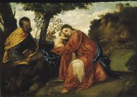 Titian / Rest on the Flight into Egypt