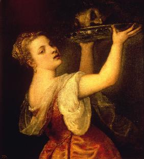 Titian / Salome with raised Platter