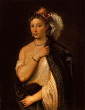 Titian / Yg.Woman with Plumed Hat / 1536