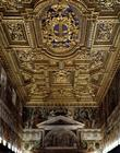 The 'Sala Regia' (Royal Hall) detail of the gilt stuccoed ceiling with frescos by Agostino Tassi (c.