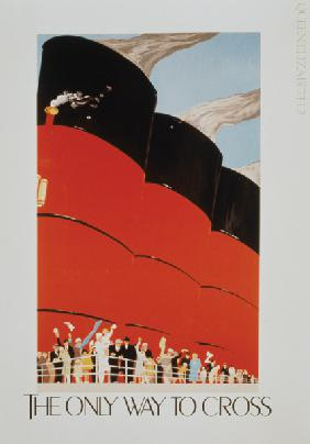 Poster advertising the RMS Queen Mary