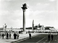 View of the Molo and the Column of the Lion of St. Mark looking towards the island of S. Giorgio Mag