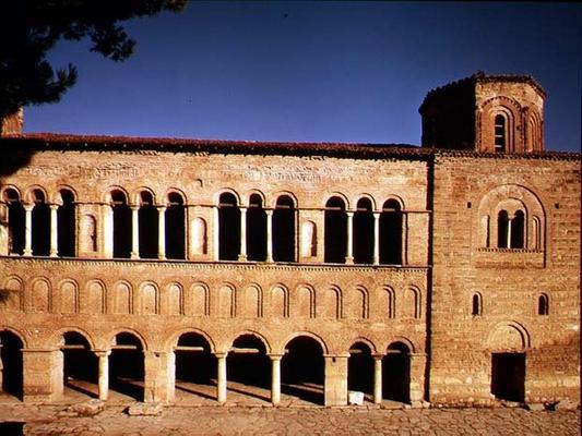 View of the west portico facade construc for Avvolgere l aggiunta portico