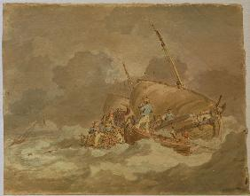 W.Turner, Sailors Getting Pigs on Board