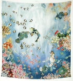 Underwater World I, 1996 (acrylic on twill)