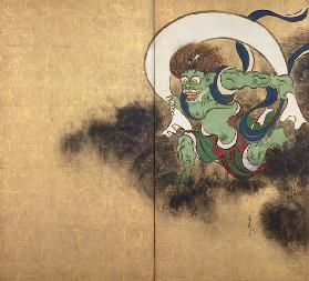 "The Wind God. Right part of two-fold screens ""Wind God and Thunder God"""