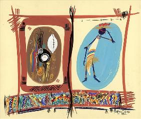 Element of Black culture, 2005 (w/c & ink on paper)