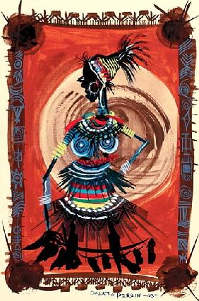 Mama Africa, 2003 (w/c & ink on paper)