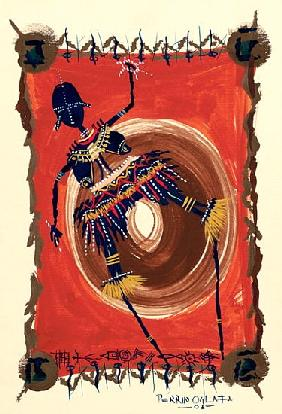 Stick Dance, 2003 (w/c & ink on paper)
