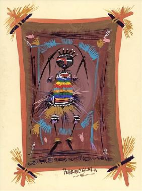 The Gift of Africa, 2006 (w/c & ink on paper)