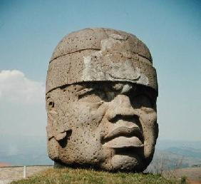 Colossal Head 1 from San Lorenzo, Veracruz, Mexico, preclassic