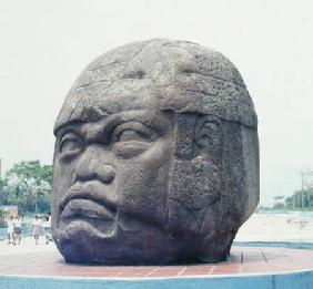Colossal Head from San Lorenzo, Veracruz, Mexico, preclassic