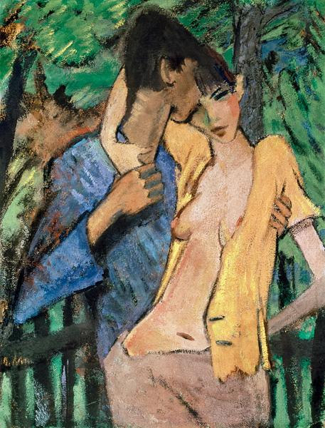 Titre de l'image : Otto Mueller - Couple d'amoureux