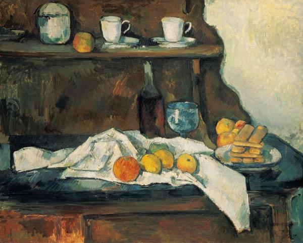 Le buffet - peinture huile sur toile de Paul Cézanne en reproduction imprimée ou copie peinte à ...
