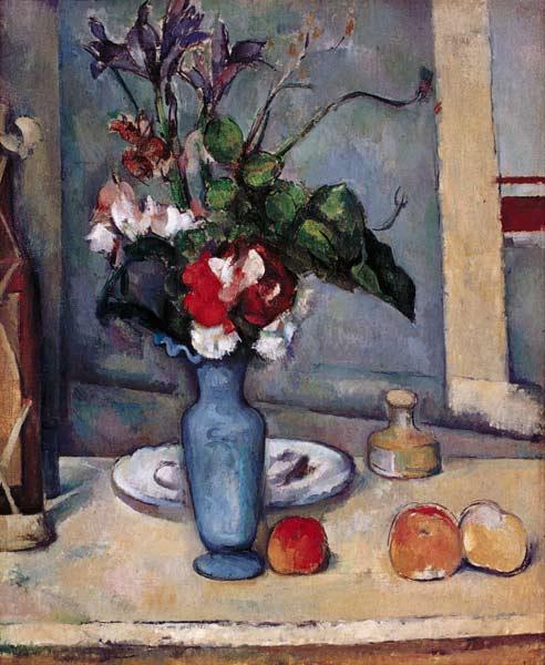 Le Vase Bleu Peinture Huile Sur Toile De Paul C 233 Zanne