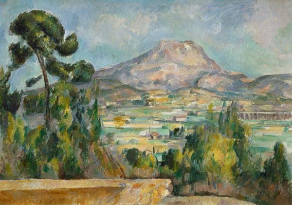 Montagne Sainte Victoire Peinture Huile Sur Toile De Paul Cezanne En Reproduction Imprimee Ou Copie Peinte A L Huile Sur Toile