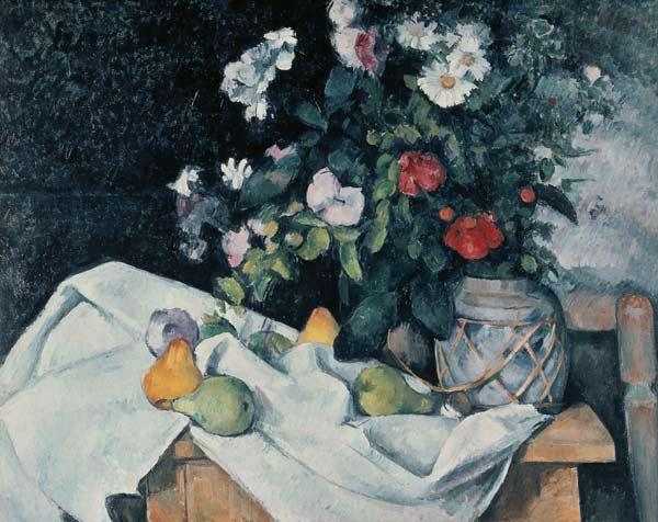 C�zanne, Paul : Still-life with Flowers .....