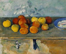 P.Cezanne / Pommes et biscuits v.1879-82