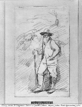 Camille Pissarro (black lead on paper)