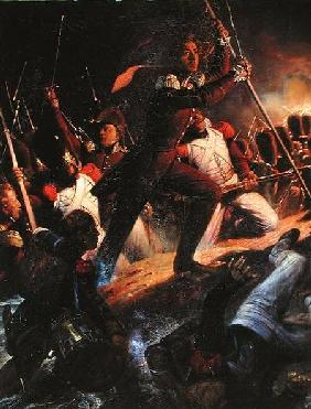 Charles-Amedee-Albert de Savoie, Prince de Carignan (1798-1849) Leading the Assault at the Siege of